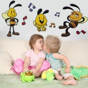 fototapeta-wesołe-pszczoły